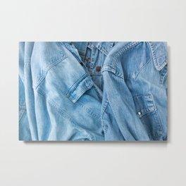 Details of denim jacket and shirt Metal Print