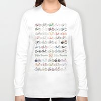 bicycle Long Sleeve T-shirts featuring Bicycle by Wyatt Design