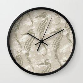 Nautical Sea Horses Wall Clock