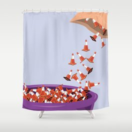 Candy Cones Shower Curtain