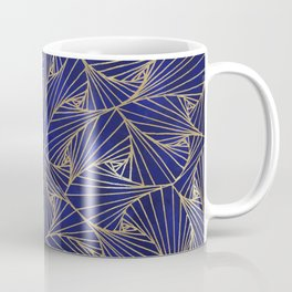 Tangles Blue and Gold Coffee Mug