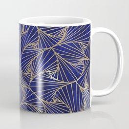 Tangles Blue and Gold Coffee Mug