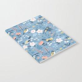 Birds & Blooms (Blue) Notebook