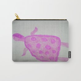 Pink Turtle Carry-All Pouch