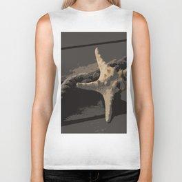 Starfish and boat rope on the pier - dark background - #Society6 - #buyart Biker Tank