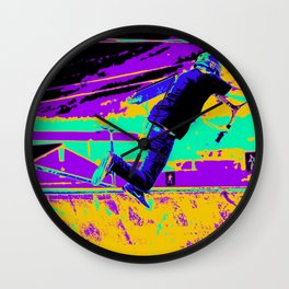 Tail Whip Tryout  - Stunt Scooter Wall Clock