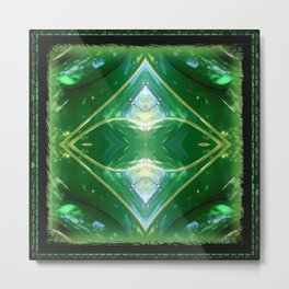 MORE EMERALD GREEN Metal Print