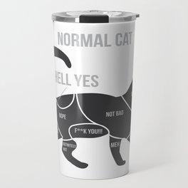 Funny Anatomy Of A Cat Kitty Ragdoll Persian Gift Travel Mug