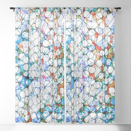 Glass stain mosaic 4 - dots & checkers Sheer Curtain