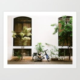 Retreo vintage scooter in Santo Domingo | Dominican Republic | Pastel fine art photography poster Art Print