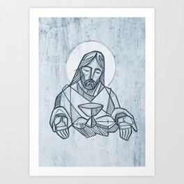 Jesus Christ at the Last Supper Art Print