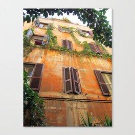 House in Trastevere Canvas Print