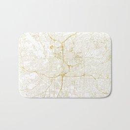 Atlanta Map Gold Bath Mat