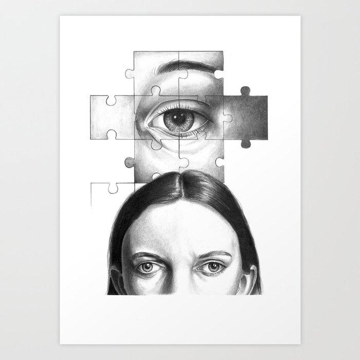 Ti Guardo e mi Vedo in Te... Art Print