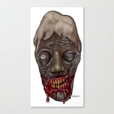 Heads of the Living Dead Zombies: Ugly Bean Zombie Canvas Print