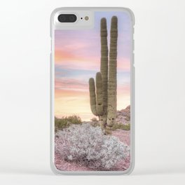 Pastel Desert Sunrise Clear iPhone Case