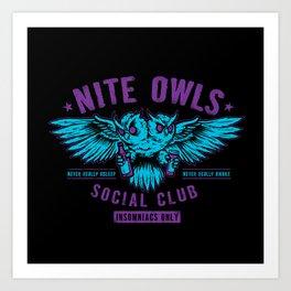 Nite Owls Social Club Art Print