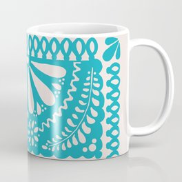 Fiesta de Flores Turquoise Coffee Mug