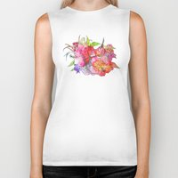 hawaiian Biker Tanks featuring Hawaiian Flowers by Nicko-Suave Art