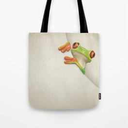 Little Red Eyed Tree Frog Tote Bag