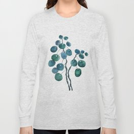 Chinese money plant watercolor Long Sleeve T-shirt