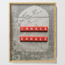 Inhale and Exhale Scrabble Tiles Serving Tray