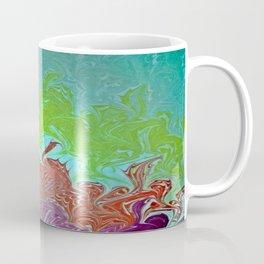 Rainbow Wing Water Marbling Coffee Mug