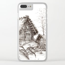 Hut ink Clear iPhone Case