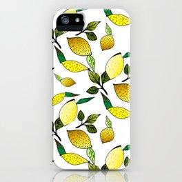Lemons II iPhone Case