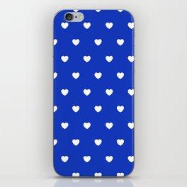 HEARTS ((white on azure)) iPhone Skin