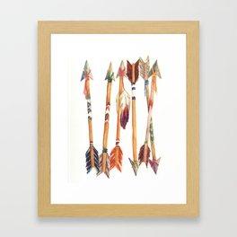 Feathered Arrows Framed Art Print