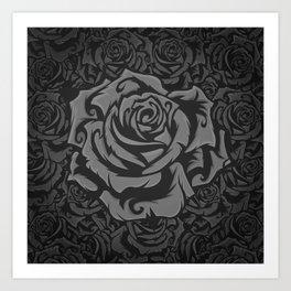 Grey Roses!!! Art Print