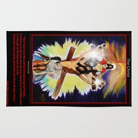 christ Area & Throw Rugs featuring THE CHRIST by KEVIN CURTIS BARR'S ART OF FAMOUS FACES