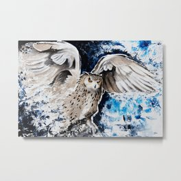"""Owl - Animal - """"I own the night..."""" by LiliFlore Metal Print"""