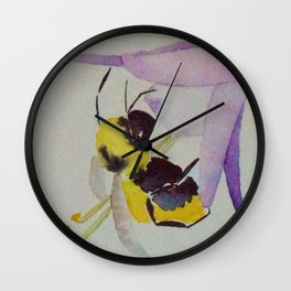 Busy bees. Wall Clock