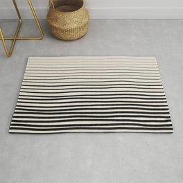 Black Vertical Lines Rug