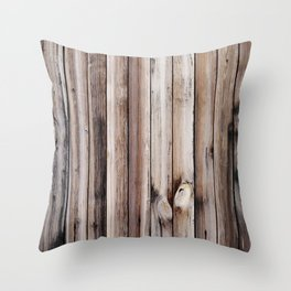 Wood texture. Natural dark wooden planks. Throw Pillow