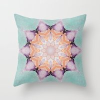 snowflake Throw Pillows featuring snowflake by patternization