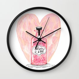 POISON OF LOVE Wall Clock