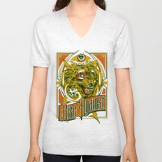 Rise Against band poster for appearance at record store Unisex V-Neck