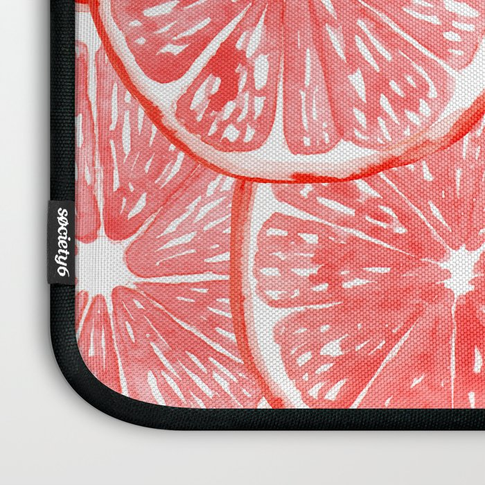 Watercolor grapefruit slices pattern Laptop Sleeve