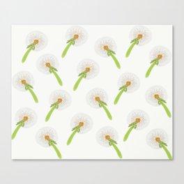 Summer meadow digital pattern Dandelion Canvas Print