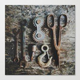 Dad's Rustic Tools Canvas Print