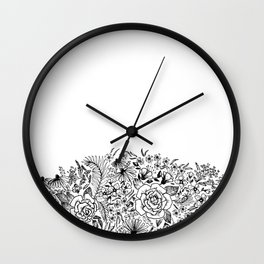 edge of the meadow Wall Clock