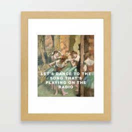Let's Dance in Pink and Green Framed Art Print