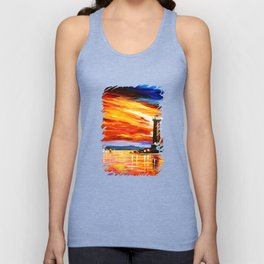 Light Art Tower Unisex Tank Top