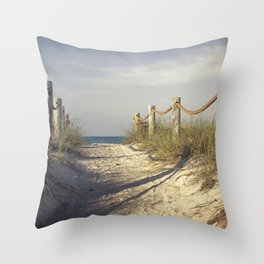 Steps from Paradise / Siesta Key Beach, Sarasota Florida Throw Pillow