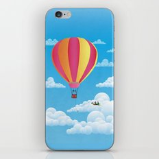 Picnic in a Balloon on a Cloud iPhone & iPod Skin
