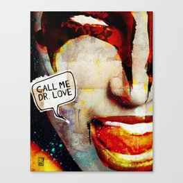 Kiss/Gene Simmons/Demon/Dr. Love Canvas Print