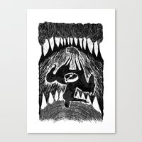 rooster teeth Canvas Prints featuring Teeth by Khodr Saad